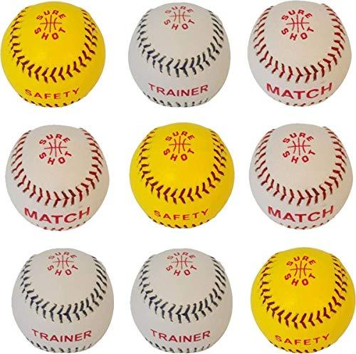 Sure Shot Pack (Sure Shot Rounder Ball inklusive Match Sicherheit & Trainer Level Pack 9 Bälle)