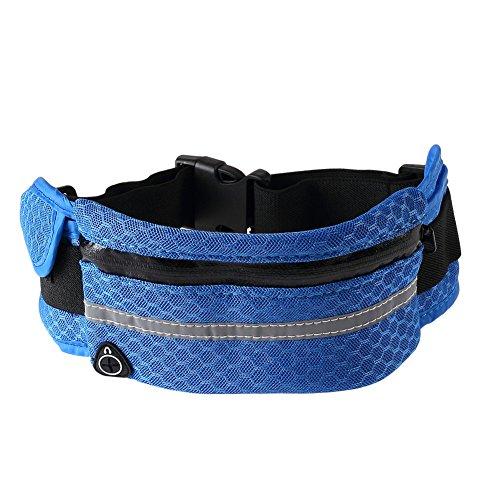 Cintura da corsa universale impermeabile marsupio adatto per corsa, trekking, arrampicata sport outdoor 1PCS, Pink Blue
