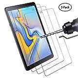 Didisky Panzerglas Hartglas Displayschutzfolie für Samsung Galaxy Tab A 10.5 (2018), SM-T590N/T595N, [3er Pack] Kratzfest, 9H Härte, Keine Blasen, High Definition, Einfach anzuwenden, Fall-freundlich