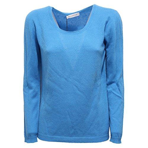 2744R maglione donna BALLANTYNE cashmere blu sweater woman [48]
