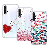 Young & Ming Cover per Huawei Honor 20, (3 Pack) Morbido Trasparente Silicone Custodie...