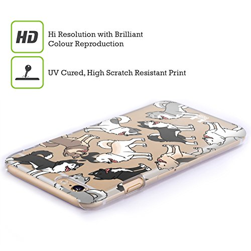 Head Case Designs Corgi Hunderasse Muster Ruckseite Hülle für Apple iPhone 5 / 5s / SE Siberian Husky