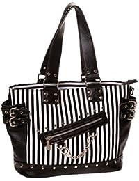 Banned Gothic Handbag Neo Baroque Black and White Rock