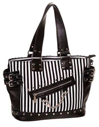 Handtasche Neo Barock schwarz und weiß Rock Gothic Banned