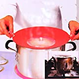 #6: House of Quirk Flexible Spill Stopper Silicone Lid Stops Pots and Pans from Messy Spillovers Spill-No-More Pot Cover, Stopper prevents pots & pans from boiling over while still letting food breathe, Dishwasher safe Silicone Splatter Screen Splash Guard Boil Over Spill Stopper Preventer and Universal Kitchen Cooking Lid and Cover for Crockpots Frying Pans Pots Mixing Bowls