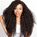 Tonsee Mode Charme bouclé perruque sans colle Rose perruques femmes noires Perruque indienne humaine Remy humaine Fron