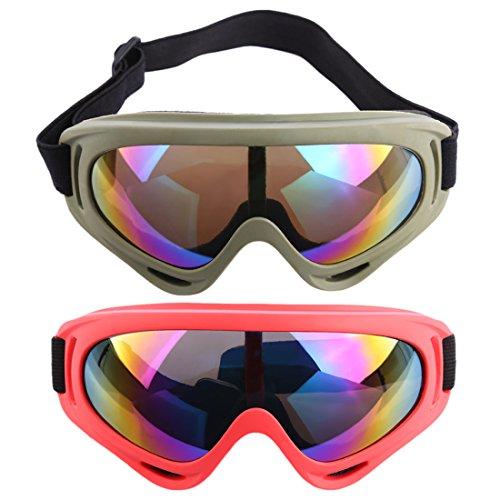 Foxom 2 Piezas Gafas Protección Gafas Seguridad Gafas