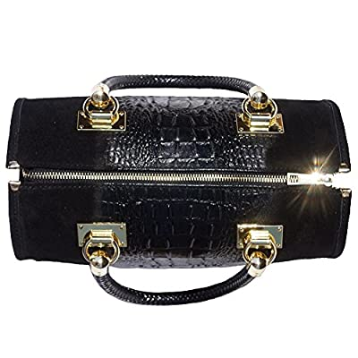 Bowling bag with golden hardware 7002 - bowling-handbags, fashion-bags