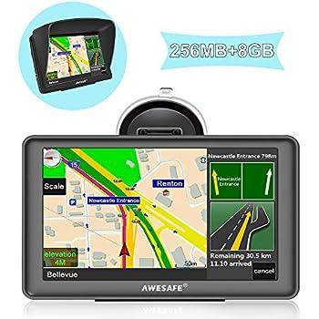 GPS para Coche con Pantalla Táctil HD de 7 Pulgadas Nüvi Reproductor Multimedia Navegador GPS con Mapa de Europa