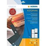Herma 7785 Fotophan Fotohüllen (für 80 Fotos im Format 10x15cm) 10 Sichthüllen schwarz, mit Beschriftungsetik, für gängige Ordner u. Ringbücher