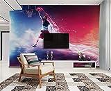 Fototapeten Wand Bild Bilderbenutzerdefinierte Tapete Wandbild Coole Basketball Slam Dunk Tv Sofa Hintergrund Wohnzimmer Schlafzimmer Hintergrund Wandbilder 3D Tapete, 350 * 245 Cm