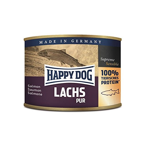 Happy Dog Lachs Pur | 12x 200g Hundefutter nass
