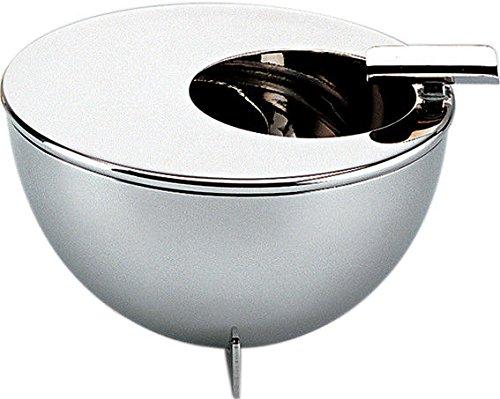 Alessi 90046 Bauhaus Aschenbecher mit Edelstahl 18/10, glänzend poliert