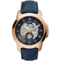 Fossil ME3054 Automatic Navy Leather Mens Watch