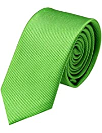 GASSANI Marca   Cravatta uomo stretta in 19 Colori   eleganti Cravatte monocolore 6cm a righe   con strisce fini