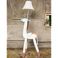 Lámpara de piso Lámpara de pie de iluminación Suave - niño Dibujos Animados Paño Vertical Creativo estudiar Cuarto cabecera Calor Lámpara de pie Vertical (Color : 2)