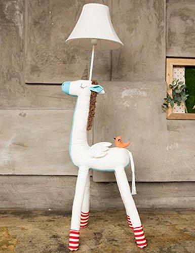 Lampe sur pied en éclairage doux --- enfant Dessin animé Tissu Verticale lampadaire Créatif étude chambre chevet Chaleur lampadaire --- Lampe verticale au sol ( Couleur : 2 )