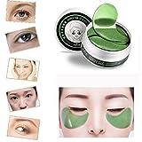 Masque pour les yeux, Malloom 1Set 60 Pcs Vente en gros de masques de collagène en poudre Osmanthus en poudre (60pcs, Vert)