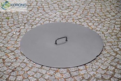 Korono Abdeckung Deckel Ø 80 cm Stahl - für Feuerschalen / Feuerkörbe