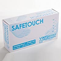 SafeTouch Blue Vinyl Powder-Free Examination Gloves (Box of 100) (Extra Large) by Safetouch