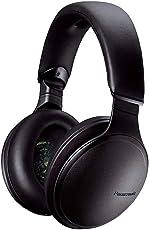 Panasonic Bluetooth RP-HD605NE-K Noise Cancelling Kopfhörer (Aktive Geräuschunterdrückung, bis 20 h Akkulaufzeit, Quick Charge, 40mm Wandler, Sprachsteuerung) in Schwarz