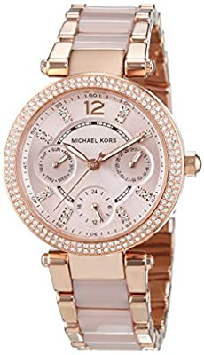 Michael Kors MK6110 - Reloj de pulsera Mujer, Acero inoxidable, color Rosa