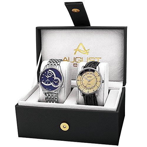 AUGUST STEINER Herren Analog Quarz Uhr mit Edelstahl Armband AS8199SSB