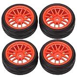 WEONE 14 Spoke plastica cerchione & Soft pneumatici in gomma per RC 1/10 auto su strada (pacchetto di 4)