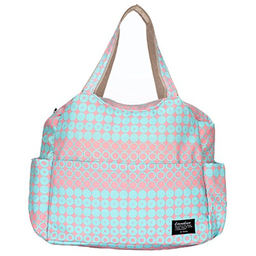 landuo Damen Baby Windel Windel Tasche groß rot pink blue