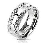 Coolbodyart Unisex anello Titan argento 8 mm larga piramide Spike Edge Design disponibile anello dimensioni 60 (19) - 69 (22), Titanio, 20, colore: Argento, cod. CBAR-TM-3252_90