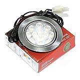 Super flache LED Möbel Einbaustrahler Möbelleuchte Gabi 12V Downlights 3W Einbautiefe nur 18mm (kaltweiss)