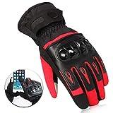 Sabarry Motorrad Handschuh Herren Fahrradhandschuhe Mountainbike Handschuhe for Bike Wakeboard (Red,XL)