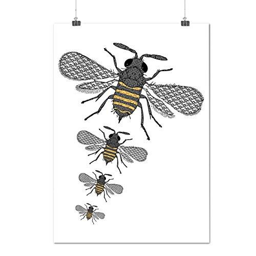 insecte-monde-art-plusieurs-abeille-matte-glace-affiche-a2-60cm-x-42cm-wellcoda