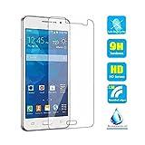 Somefun 2pcs clair cristal film protecteur d'écran en verre trempé pour Samsung Galaxy Grand Prime VE Duos G530G530H Sm-g531h G531fsm-g531F DS Résister aux rayures Dureté 9H