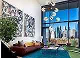 SDKKY Ferro moderna arte del vetro lampadario di caramelle , testa 9 Decorazioni di illuminazione - SDKKY - amazon.it