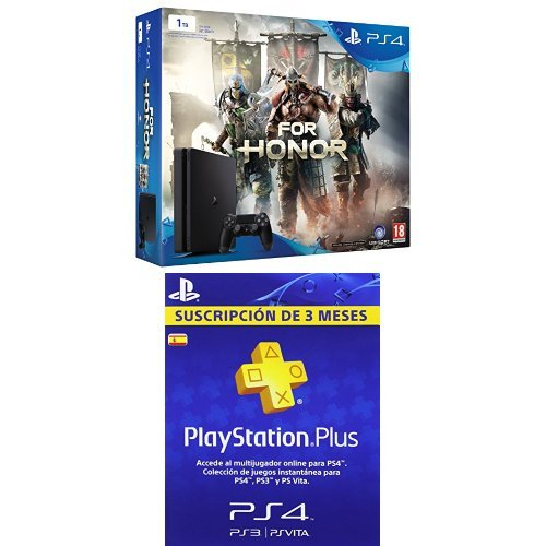 PlayStation 4 Slim (PS4) 1TB - Consola + For Honor + PSN Plus Tarjeta 90 Días