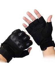 Al aire libre Airsoft caza ciclismo moto conducción táctica guantes Fingerless M negro