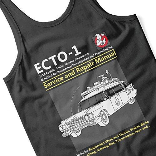 Ghostbusters Ecto1 Service And Repair Manual Men's Vest Black