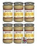 6er Pack ~ Weisse Sesampaste (Tahini) 6 x 300g Sesam Paste Tahin + ein kleines Glückspüppchen - Holzpüppchen