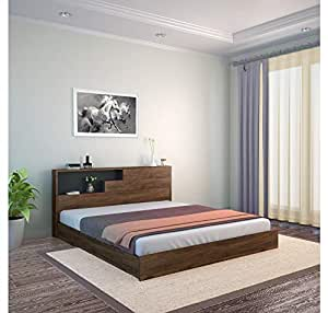 Home By Nilkamal Borden King Size Bed With Headboard Storage Black