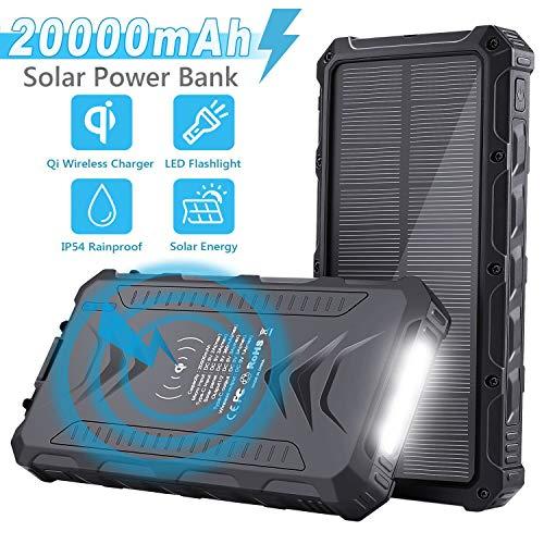 Sendowtek Batería Externa Solar 20000mAh