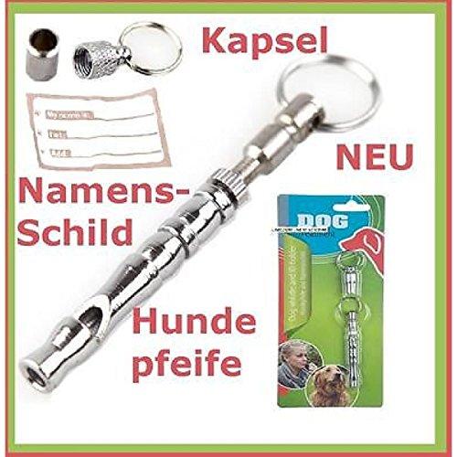 Hundepfeife Adresshülse Set Hochfrequenzpfeife Signalpfeife Pfeife Namensschild