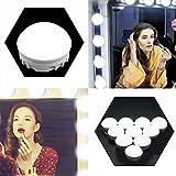10 LED Spiegelleuchte, Tomshine Hollywood Stil Spiegelleuchte, Make-Up Spiegellicht Lampen, Kaltweiß Schminktisch Spiegel Beleuchtung mit 7000K, USB-Netzteil, 5 Smart Memory Dimmbare Helligkeit