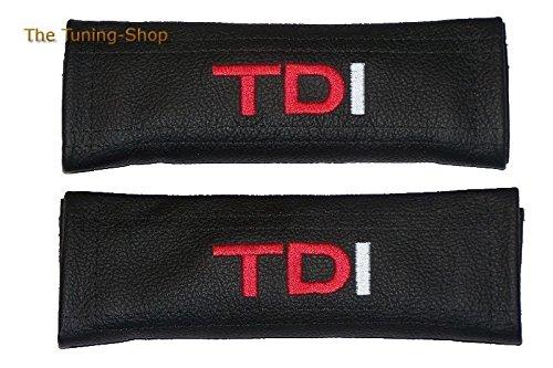 2x cintura cover imbottito spalla in pelle nero rosso/bianco TDI (Mazda 6 Oem Sostituzione)