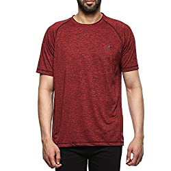 Proline Mens Solid Regular Fit Active Base Layer Shirt (PA019_Rdsd_XX-Large)