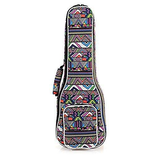 Eleoption Housse Ukulélé Bag Sac pour ukulélé Motif tissé Motif folk Blanc 21 inch(56*20cm) m