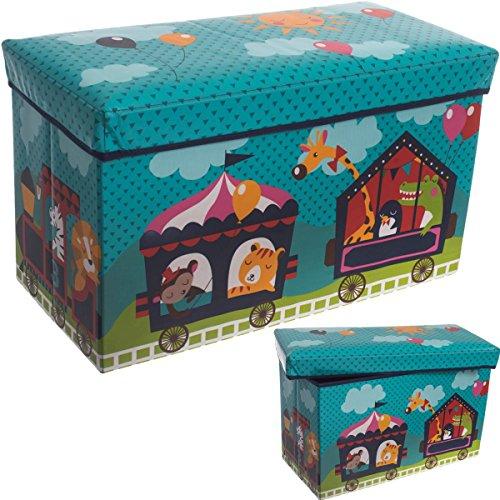 Staubox / Spielzeugbox / Aufbewahrungsbox / Spielzeugkiste in 3 verschiedenen Designs (Zirkus) -