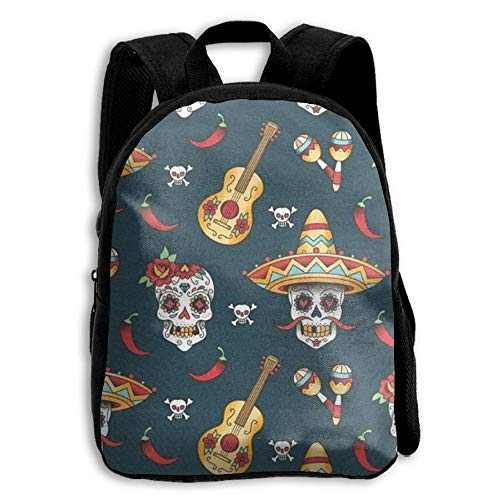 stom Happy Halloween Floral Sugar Skulls School Backpack Bookbags Middle Bags Daypack for Boys Girls Kinderrucksack Rucksack ()