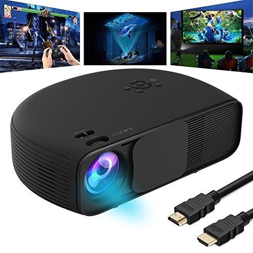 Full HD Video Beamer, VPRAWLS LED Beamer 1080P Projektor LCD Heimkino, mit 3300 Luminous Efficiency LCD Videoprojektor unterstützt HDMI USB VGA Laptop Smartphone iPhone Xbox für zu Hause, Präsentatio