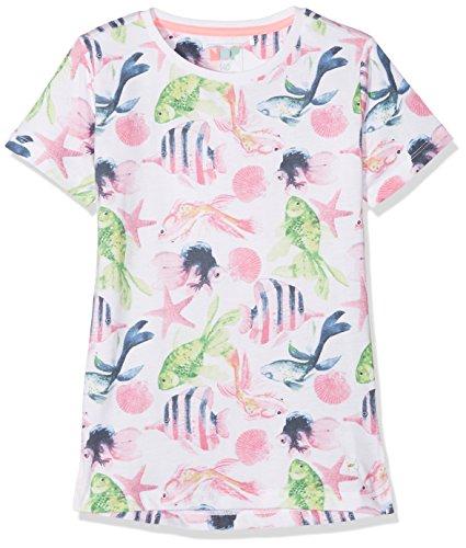 NOP Mädchen T-Shirt G Tee ss Marion AOP, Mehrfarbig (White C001), 140